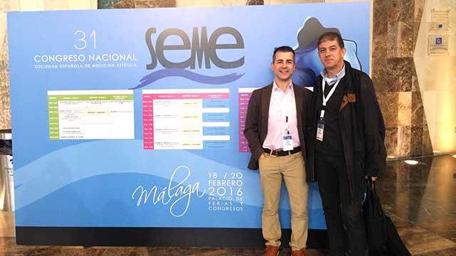 Los doctores de la Clínica Dual de Valencia asistentes al 31 Congreso Nacional del SEME en 2016